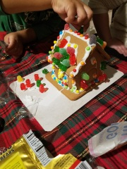 Botched gingerbread house attempt.