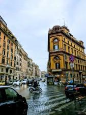 Rome on a rainy night.